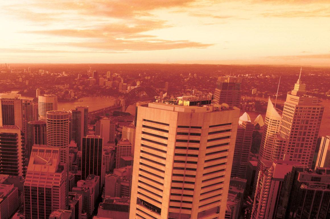Sydney City Skyline at Sunset